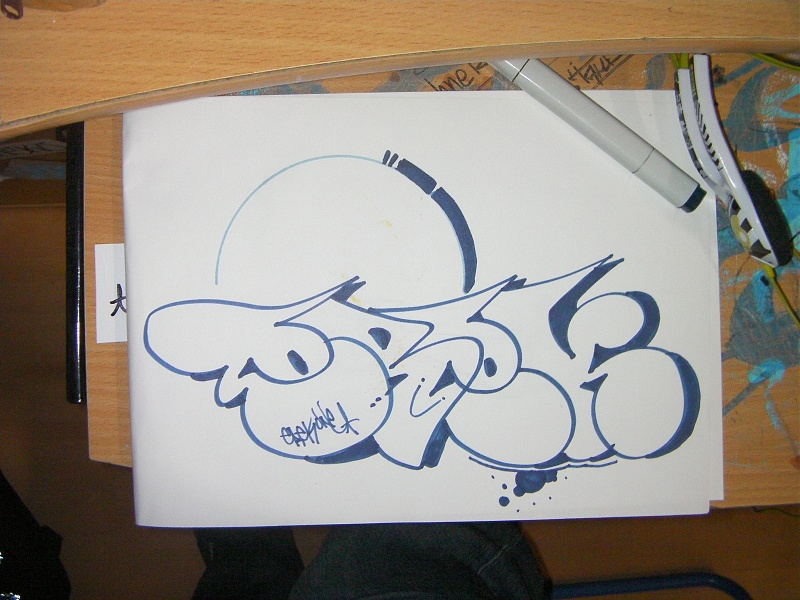 Paint Sketch Own Name Throw Up Graffiti Battle Pure Graffiti