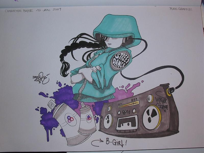 Boy Characters Battle – Graffiti Sketch Battle | Pure Graffiti